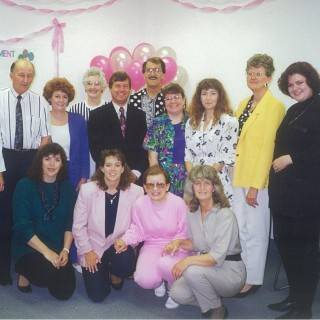 Evelyn's retirement party in Stony Plain - 1992