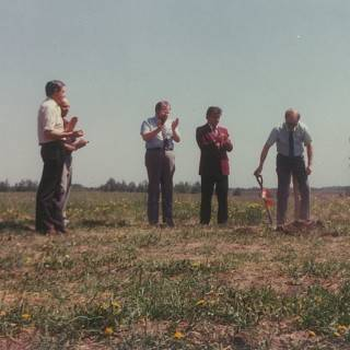 Ground-breaking for Admin building at Brightbank Acreage - 1983